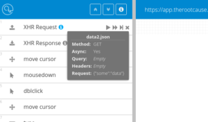 XHR request info GUI