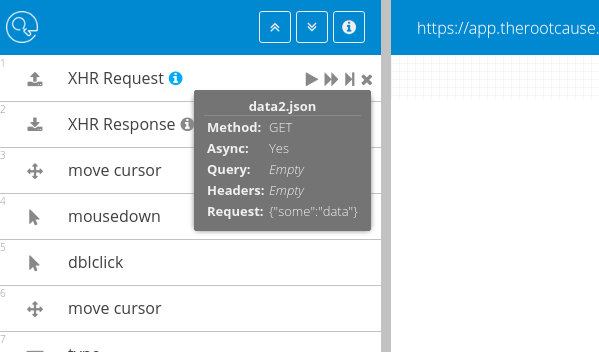 XHR request GUI example - RootCause